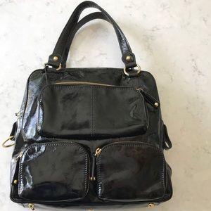 Tods T handbag Piccola tote authentic black patent